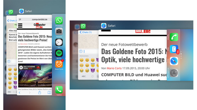 iOS 9 © COMPUTER BILD, Apple