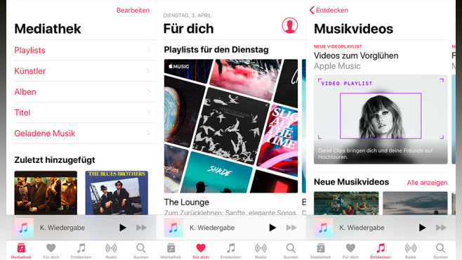 Apple Music auf dem iPhone © Apple