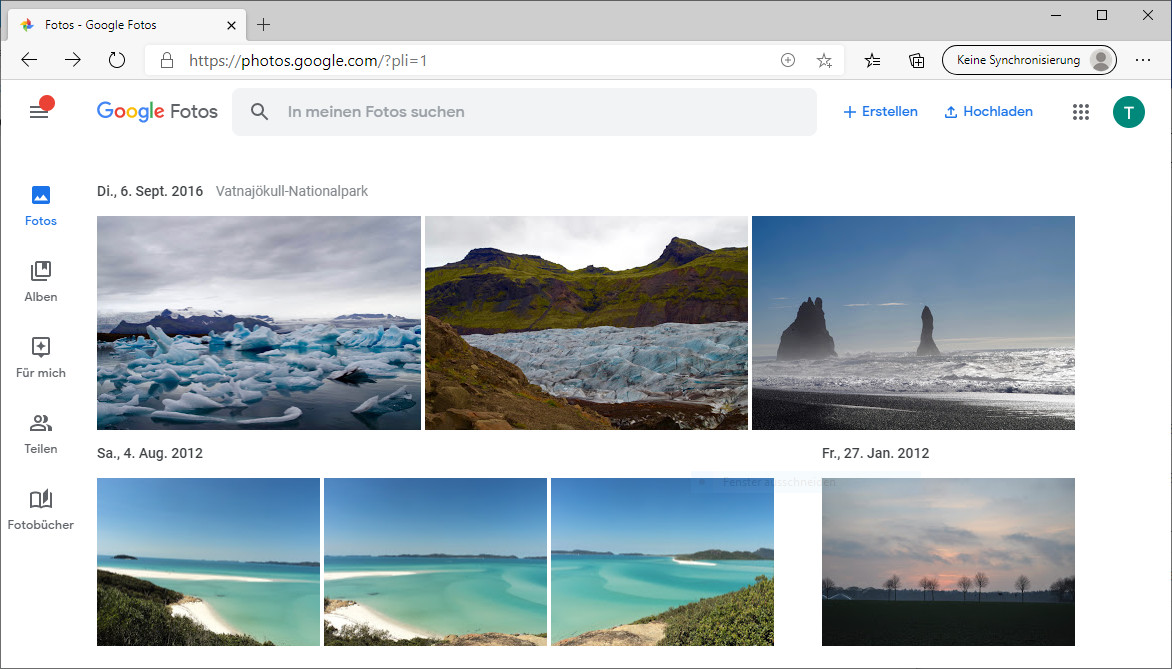 Screenshot 1 - Google Fotos