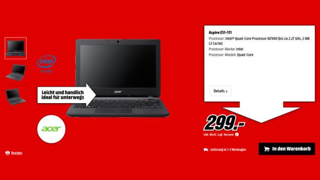 Acer Aspire ES1-111 ©Saturn