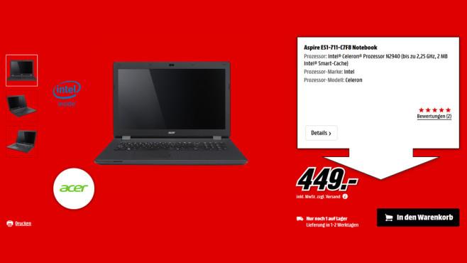 Acer Aspire ES1-711-C7F8 ©Saturn