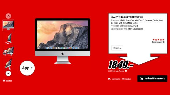 Apple iMac 27 Zoll ©Saturn