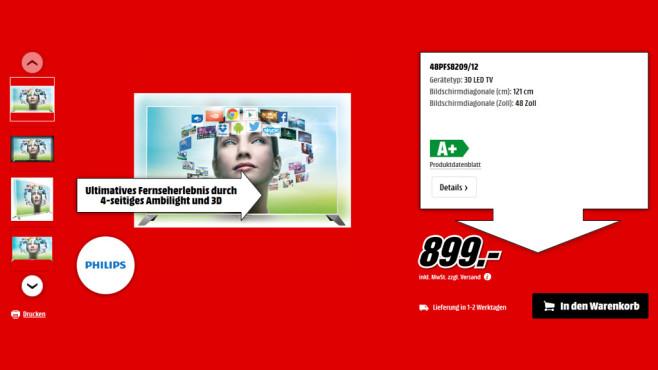 Philips 48PFS8209 ©Saturn