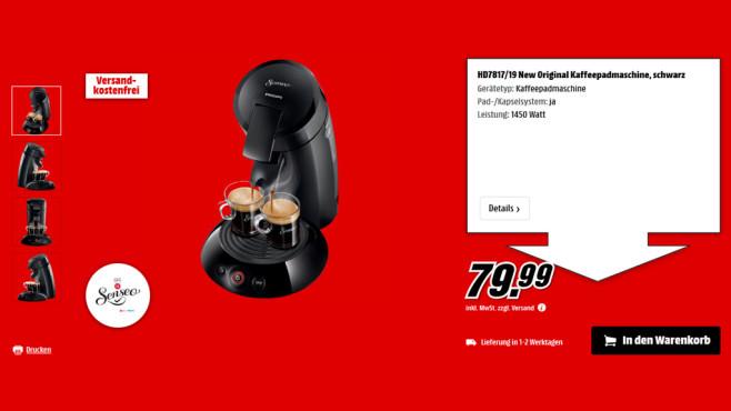 Philips Senseo Original HD 7817/19 ©Saturn