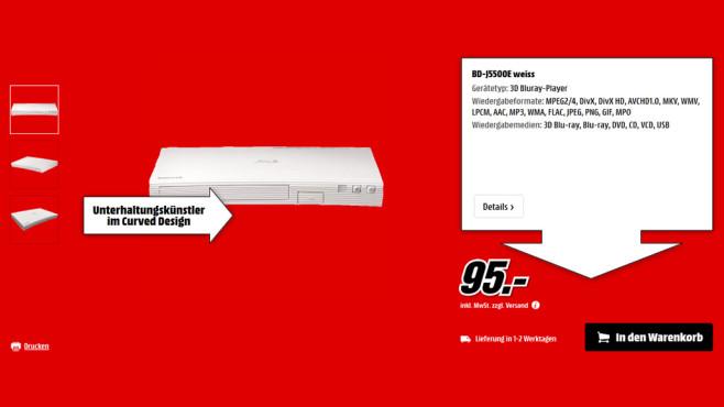 Samsung BD-J5500E ©Saturn