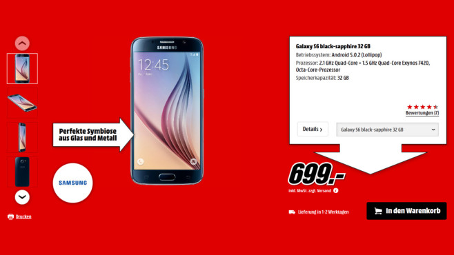 Samsung Galaxy S6 ©Saturn