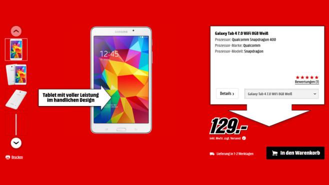 Samsung Galaxy Tab 4 (7.0) 8GB WiFi ©Saturn