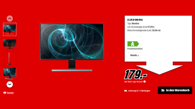 Samsung SyncMaster S24D590PL ©Saturn
