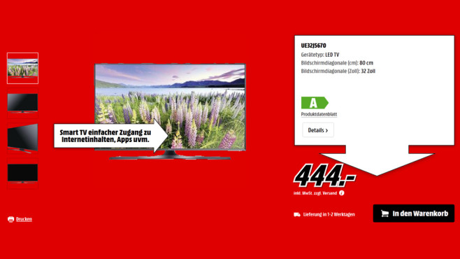 Samsung UE32J5670 ©Saturn