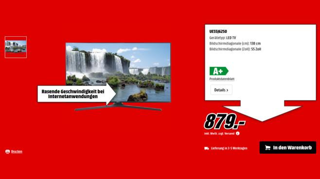 Samsung UE55J6250 ©Saturn