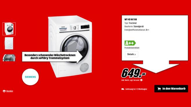 Siemens WT45W510 ©Saturn