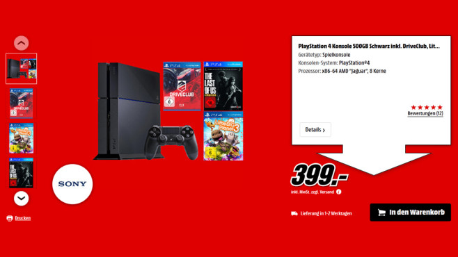 Sony PlayStation 4 Player Bundle ©Saturn