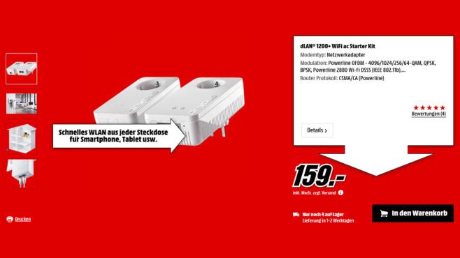 devolo dLAN 1200+ WLAN-AC Starter Kit ©Saturn