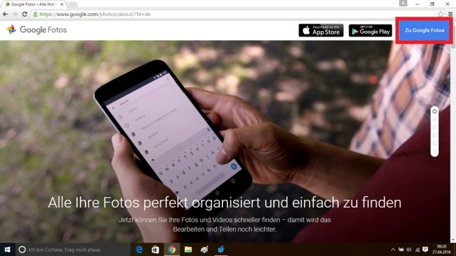 Google Fotos im Browser laden (2) © COMPUTER BILD