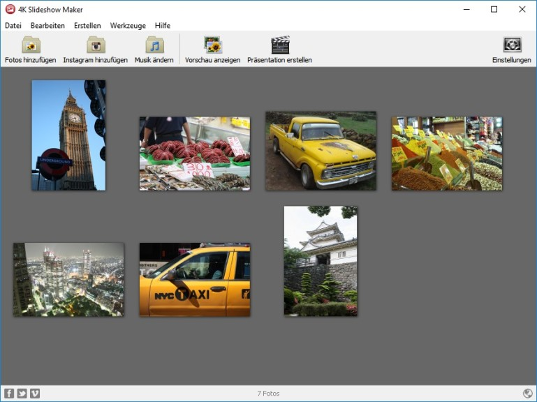 Screenshot 1 - 4K Slideshow Maker Portable