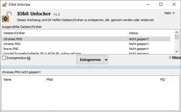 Screenshot 1 - IObit Unlocker Portable