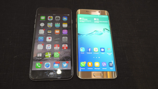 Apple iPhone 6 Plus vs Samsung Galaxy S6 Edge+ © COMPUTER BILD