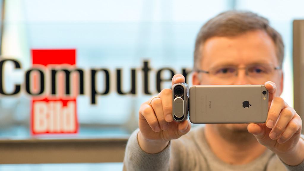 DxO One: Mini-Kamera fürs iPhone im Test Die DxO One ist eine sehr kleine und leichte Kamera für iPhone, iPod oder iPad. COMPUTER BILD hat die Mini-Kamera getestet.©COMPUTER BILD