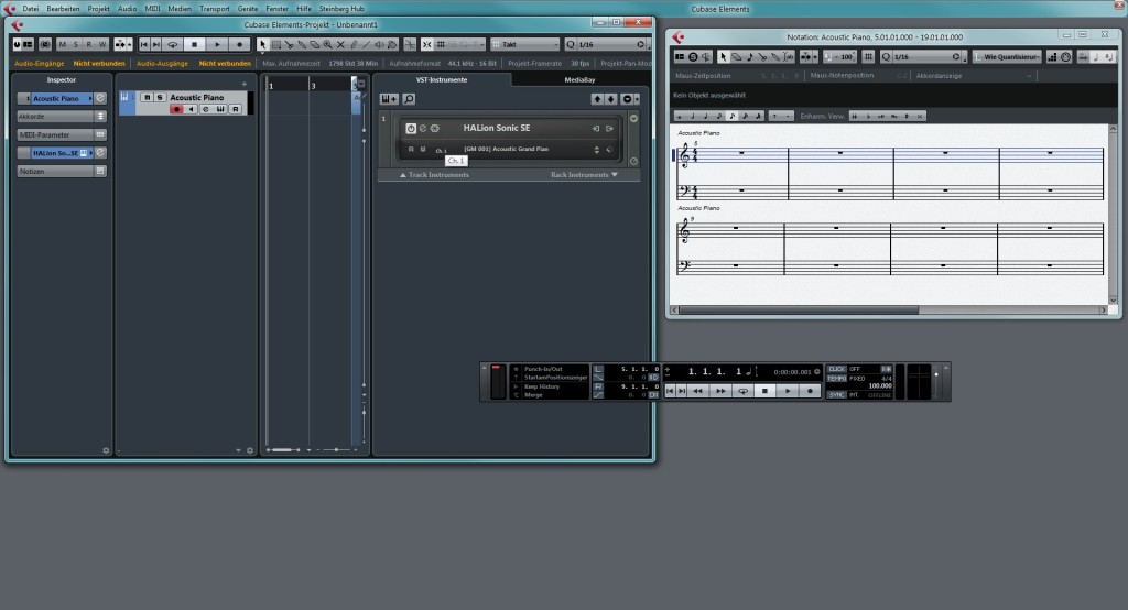 Screenshot 1 - Cubase Elements