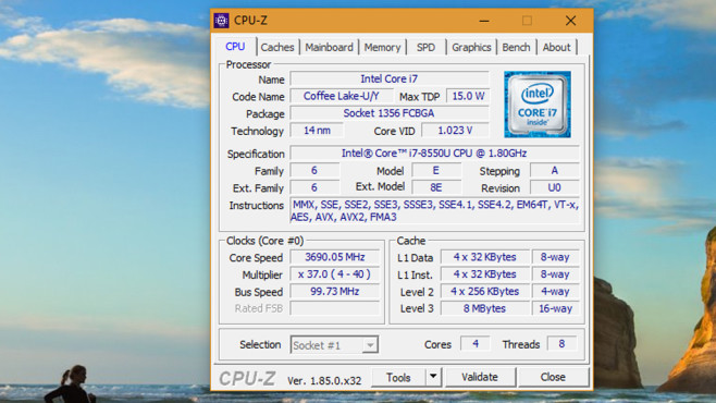CPU-Z Portable ©COMPUTER BILD