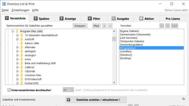 Directory List & Print Portable ©COMPUTER BILD