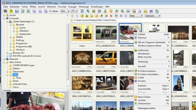 FastStone Image Viewer Portable ©COMPUTER BILD