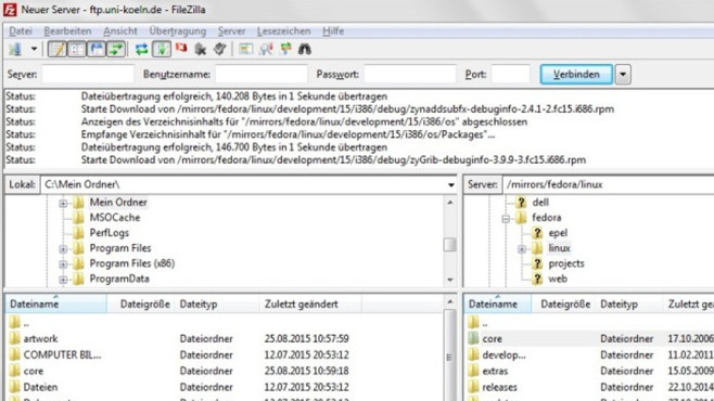 FileZilla Portable © COMPUTER BILD