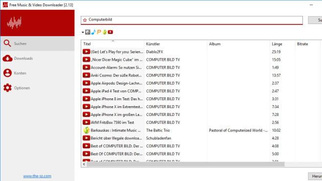 Free Music & Video Downloader ©COMPUTER BILD