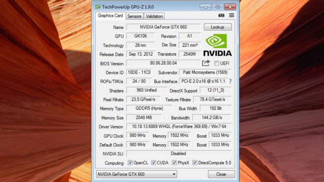 GPU-Z Portable ©COMPUTER BILD