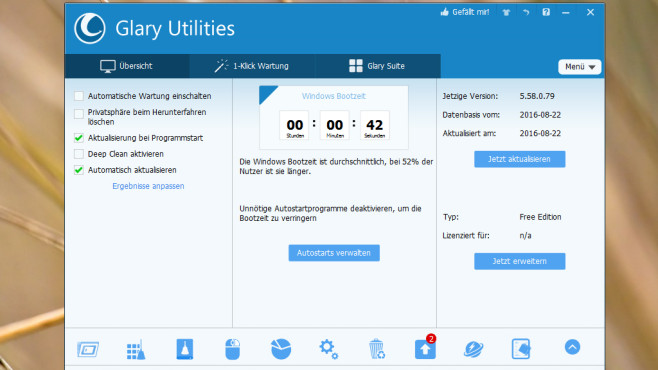 Glary Utilities Portable © COMPUTER BILD