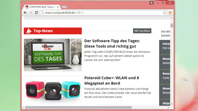 Google Chrome Portable © COMPUTER BILD