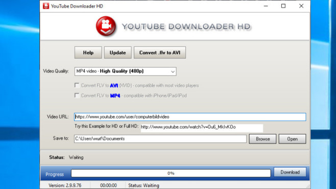 YouTube Downloader HD Portable © COMPUTER BILD