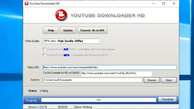 YouTube Downloader HD Portable ©COMPUTER BILD