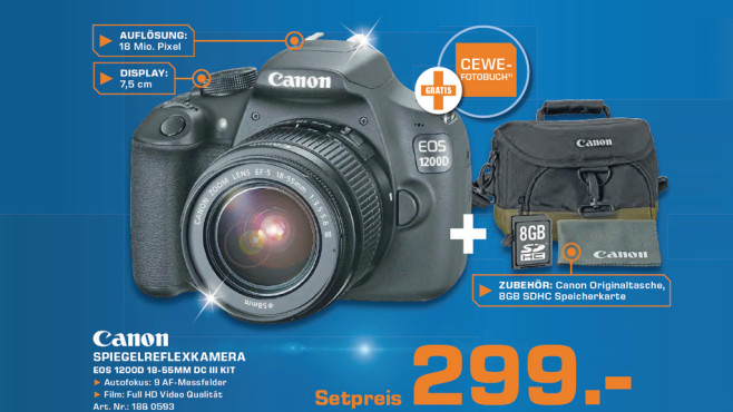 Canon EOS 1200D Kit 18-55 mm Canon DC III © Saturn
