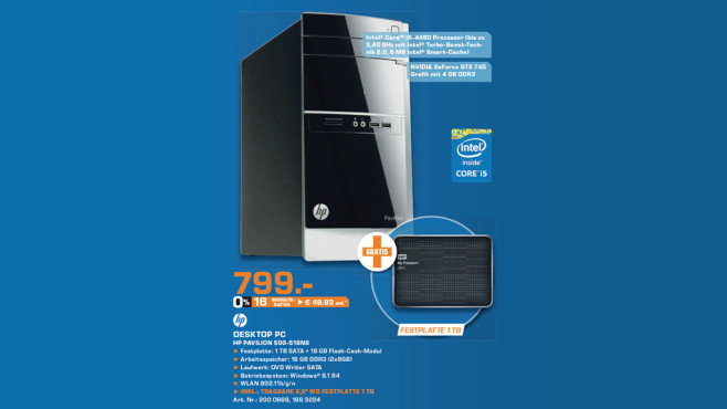 HP Pavilion 500-519NG © Saturn