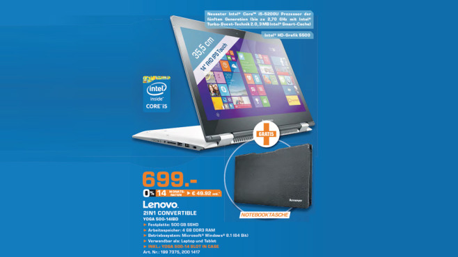 Lenovo Yoga 500-14IBD © Saturn