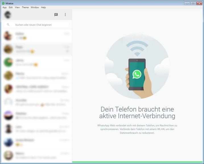 Screenshot 1 - Whatsie (WhatsApp for Desktop)