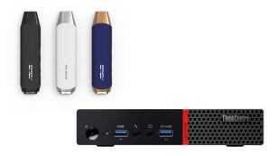 Asus VivoStick PC und Lenovo ThinkCentre M900©Asus, Lenovo