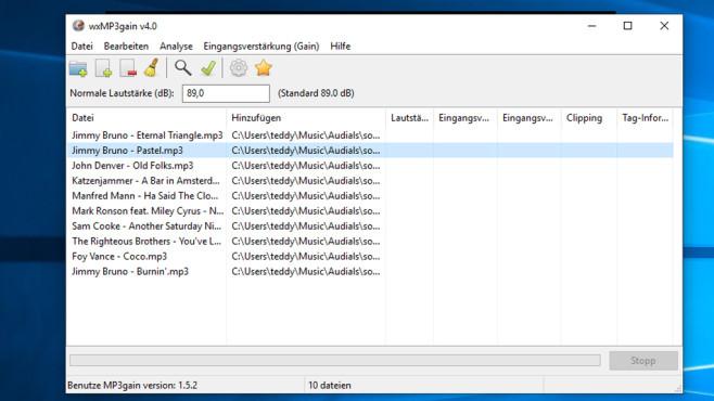 MP3Gain: Lautstärke von Songs angleichen ©COMPUTER BILD