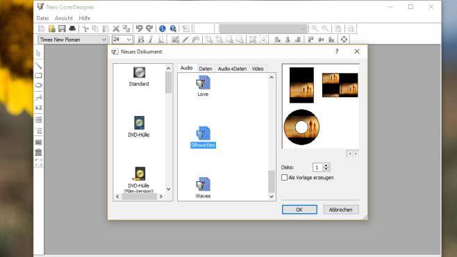 Nero CoverDesigner: CD-Hüllen designen ©COMPUTER BILD