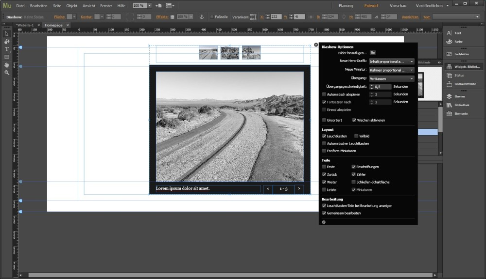 Screenshot 1 - Adobe Muse CC 2018 (Creative Cloud)