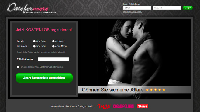 Website dateformore.de © Dateformore.de