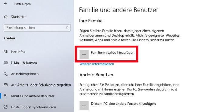 Windows-10-Kindersicherung einrichten©COMPUTER BILD