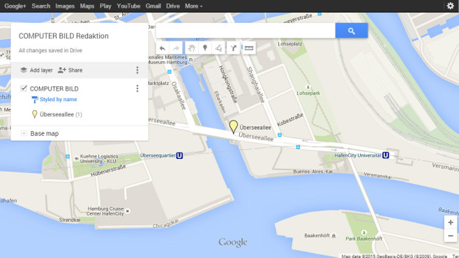 Google My Maps im Cloud Drive©Google