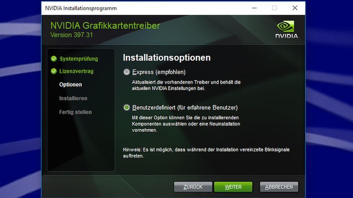 Nvidia-Geforce-Treiber (Windows 10)
