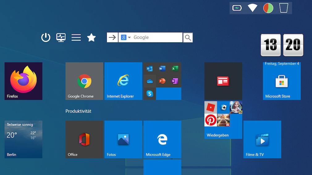 Windows 10 optimieren: Diese Tools verbessern kostenlos Ihr System Das gelungene Windows-10-Startmenü machen Sie mit Start Screen Unlimited noch besser.