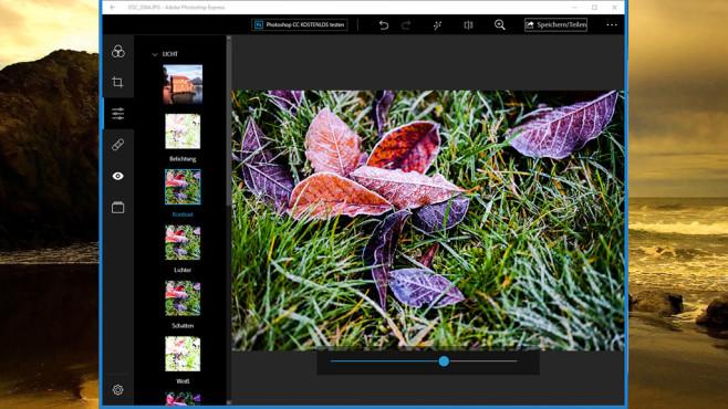 Adobe Photoshop Express: Bilder einfach überarbeiten ©COMPUTER BILD, Adobe