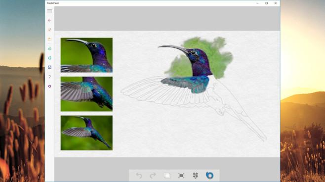 Fresh Paint: Malen und Bildbearbeitung leicht gemacht ©COMPUTER BILD, Microsoft
