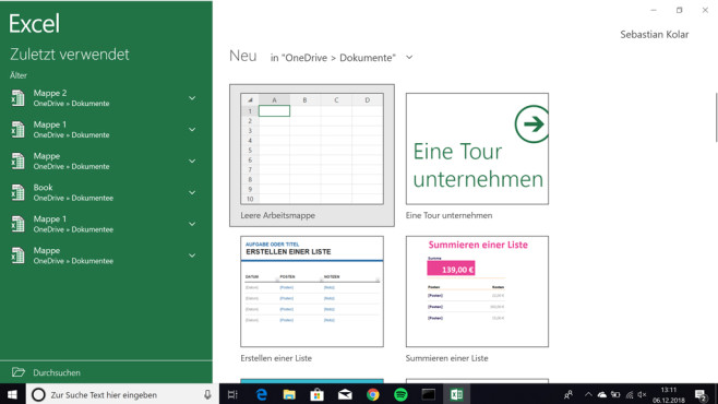 Microsoft Excel Mobile (Windows-10-App) ©COMPUTER BILD