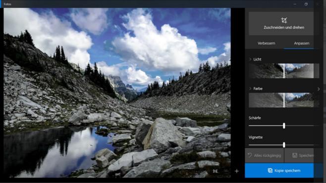 Microsoft Fotos: Fotos verwalten und bearbeiten ©COMPUTER BILD